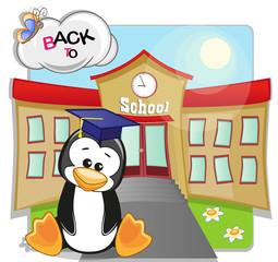 Penguin and school