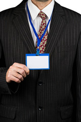 Businessman and badge
