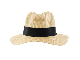Panama hat isolated on white background