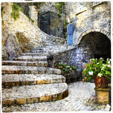 streets of old Italian villages- Casperia, artistic picture - 73829523