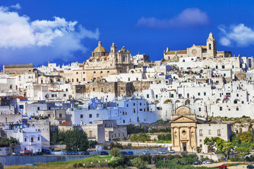 Ostuni - white town in Puglia, South Italy