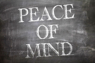 Peace of Mind written on blackboard