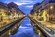Naviglio Grande canal in the evening, Milan - 73829704