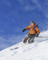 Könner auf Telemark-Skiern
