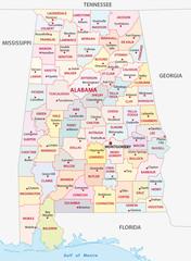 alabama administrative map