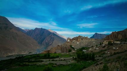 4K Timelapse Dhankar gompa.Spiti Valley,Himachal Pradesh, Indi