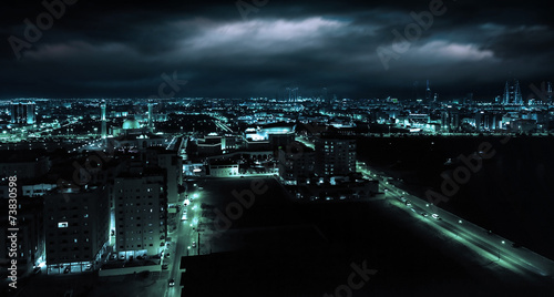Fotobehang Midden Oosten Night view of Manama, capital city of Bahrain, Middle East