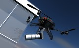 Camera drone privacy and espionage issue poster