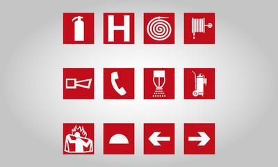 Incêndio ícones