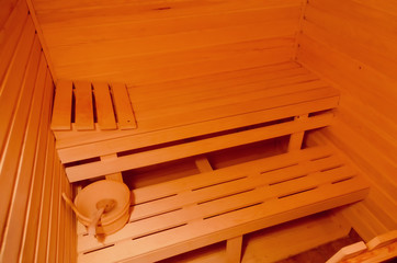 small sauna in the cottage