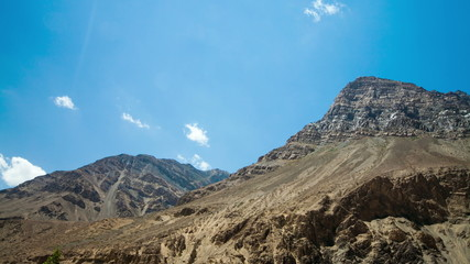 Time lapse high mountain landscape. Spiti Valley,India