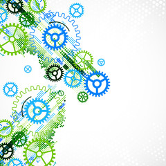Abstract cogwheel technological background.