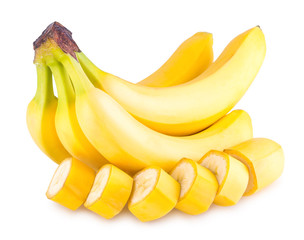 banana bunch with slices