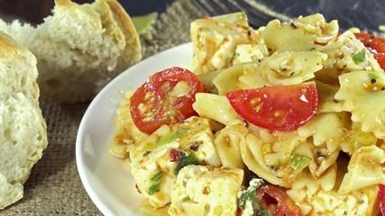 Rotating Pasta Salad (not loopable)