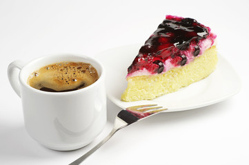 Coffee and piece of cake