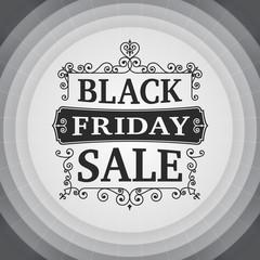 vintage Black friday sale business poster