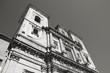 Toledo, Spain - Jesuit Church. Black and white photo.