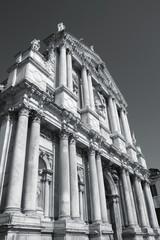Venezia, Italy. Black and white photo.