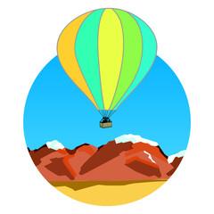 air balloon on ridges