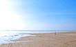 canvas print picture - An einem einsamen Strand