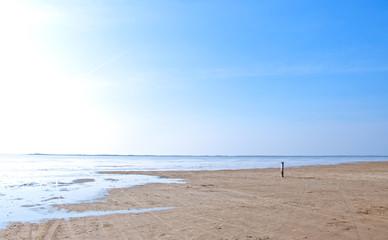 An einem einsamen Strand