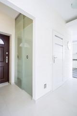 Big wardrobe with glass door