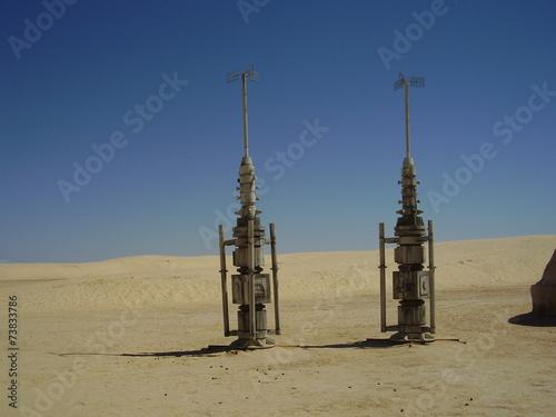 Star wars village in the desert