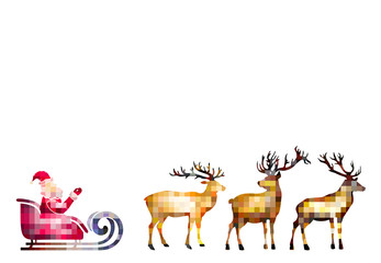Santa and his deers