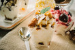 Dessert with ice cream - 73834189
