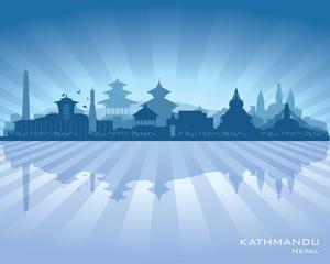 Kathmandu Nepal  city skyline vector silhouette