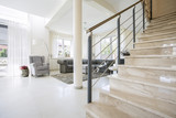 Staircase in modern living room