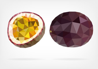 Low Poly Passion Fruit or Maracuja