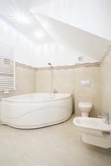Bathroom with big bathtube