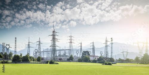 Leinwandbild Motiv electricity tower