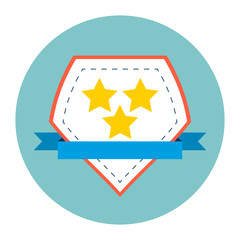 Medal flat Icon.