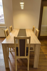 Dining-table in living room - renovated apartment in Sofia