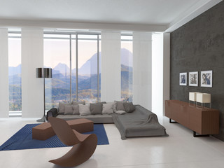 Architectural Living Room Area Design