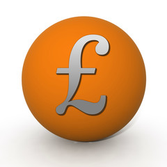 Pound circular icon on white background