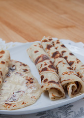 Rolled lefse - close up