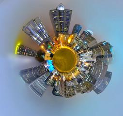 mini planet galaxy of charlotte city skyline nc