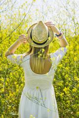 Girl in the yellow field