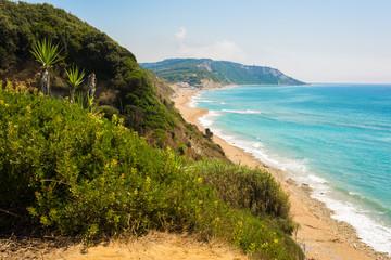 Marathias bay at Corfu island Greece