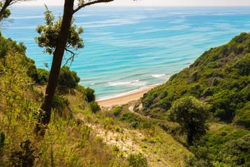 Secret paradise beach at Corfu island Greece