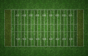 American Football Field on Grass