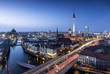 canvas print picture - Berlin Skyline an der Spree