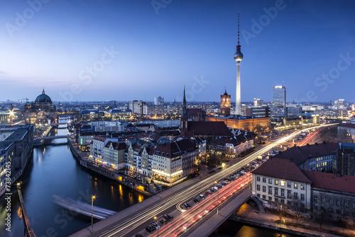 Foto Spatwand Berlijn Berlin Skyline an der Spree