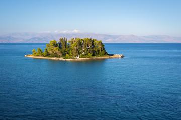 Pontikonisi island at Corfu Island Greece
