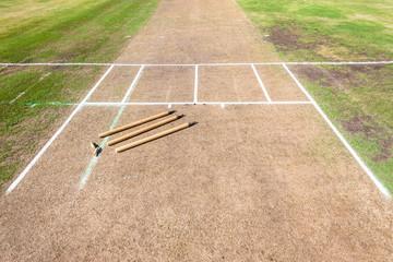 Cricket Wickets Field