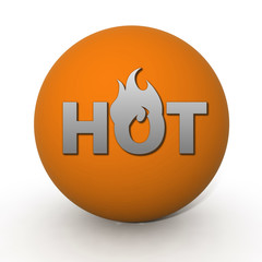 Hot circular icon on white background