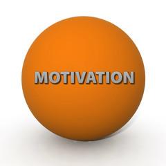 Motivation circular icon on white background